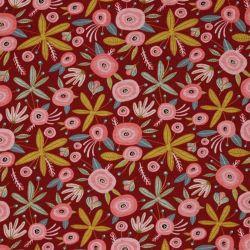 Sweat-minkee glitter flower bordeaux