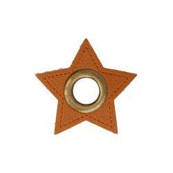 Œillets simili étoile marron
