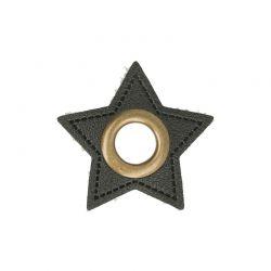 Œillets simili étoile noir