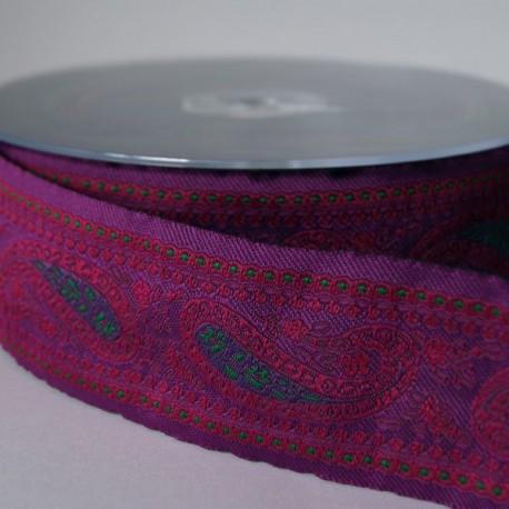 Ruban Paysley violet