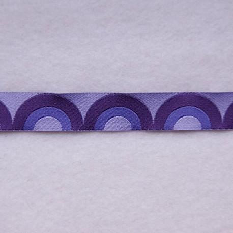 Ruban rétro waves violet