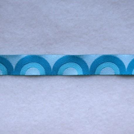 Ruban rétro waves turquoise
