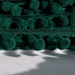 Galon à pompons vert sapin