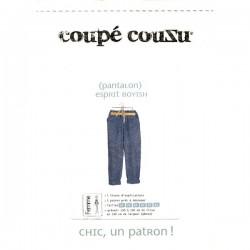 Pantalon esprit boyish