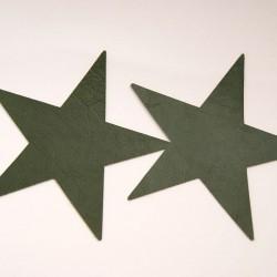 Motif étoile imitation cuir kaki
