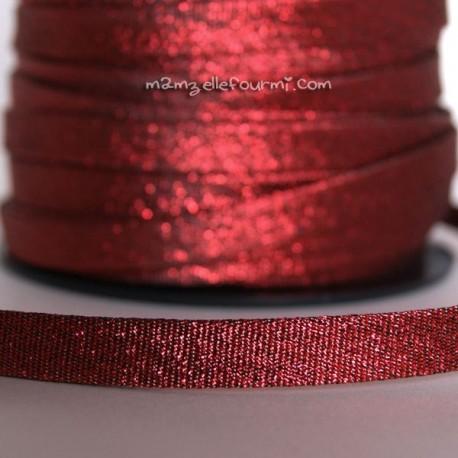 Biais scintillant rouge