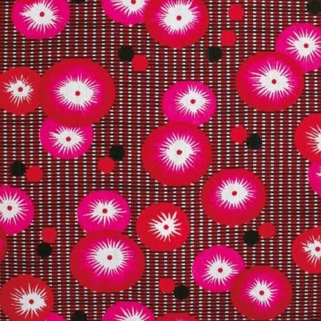 Coton coquelicot rouge