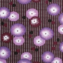 Coton coquelicot prune
