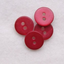 Bouton 11 mm rouge