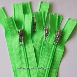 Fermeture Éclair non séparable vert fluo
