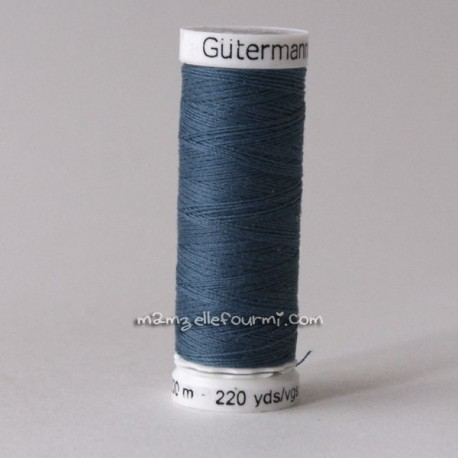 Fil Gütermann 200m bleu canard