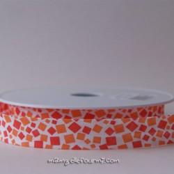 Biais mosaïque orange