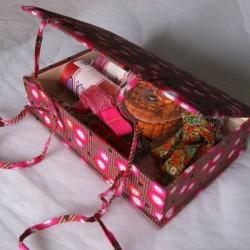 Boîte à couture coquelicot rouge