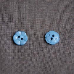 Bouton 12 mm petite fleur bleu