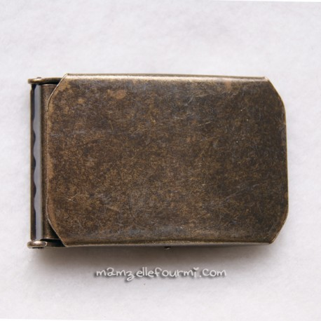 Boucle de ceinture 30 mm bronze