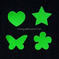 Kit motifs vert fluo à thermocoller