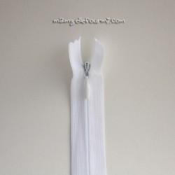 Fermeture Éclair invisible 22 cm blanche