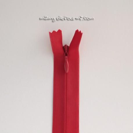 Fermeture Éclair 40 cm rouge
