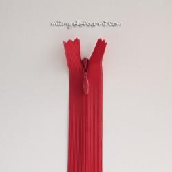 Fermeture Éclair invisible 60 cm rouge