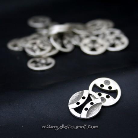 Boutons métal rétro