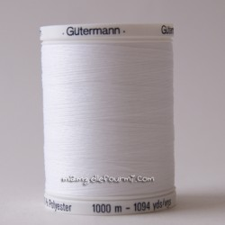 Fil Gütermann 1000m blanc
