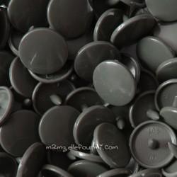 Pressions KAM rondes vert de gris