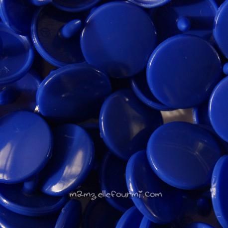 Pressions KAM rondes bleu roi