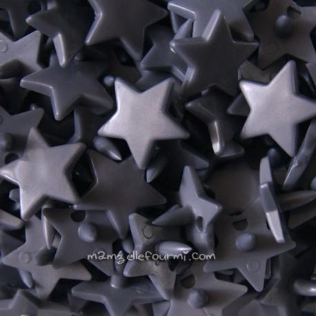 Pressions KAM étoile gris argent