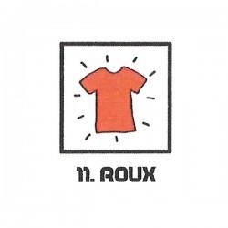Teinture textile roux