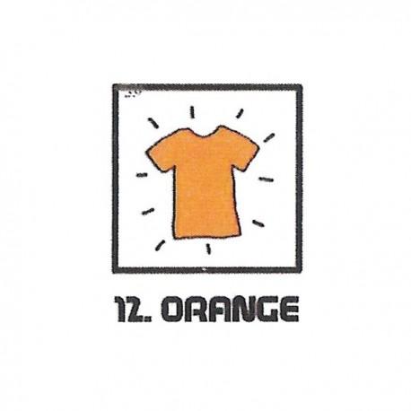 Teinture textile orange