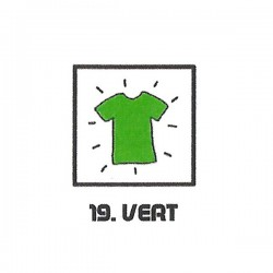 Teinture textile vert
