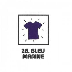 Teinture textile bleu marine