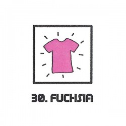 Teinture textile fuchsia